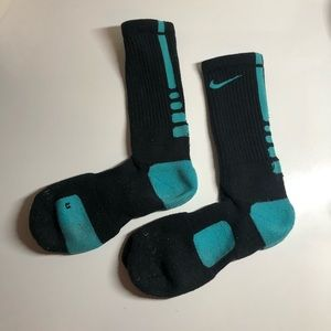 Nike DRI FIT socks black & turquoise size 8-12